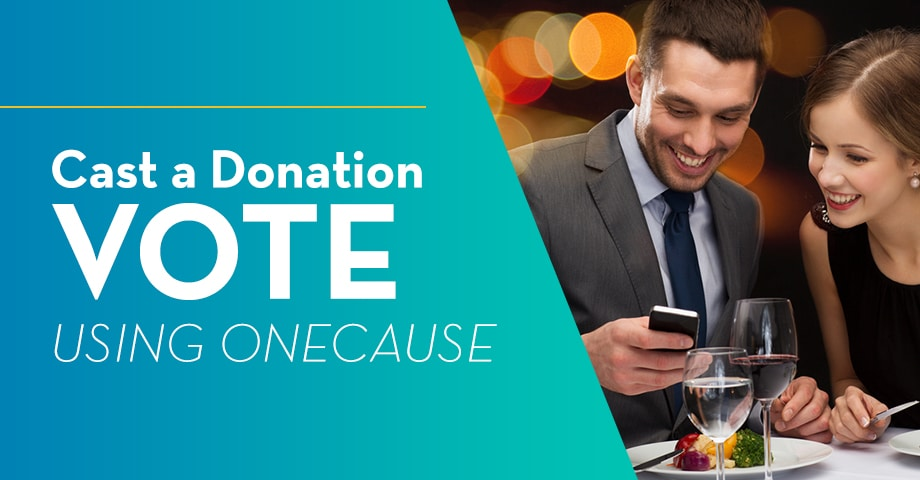 Cast a Donation Vote Using OneCause