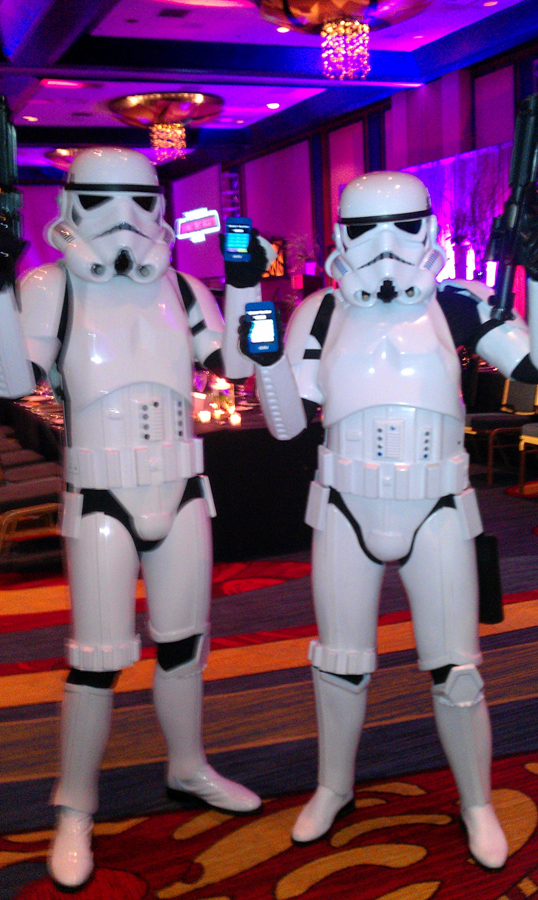 Star Wars characters demonstrating how easy it is to use OneCause's mobile bidding