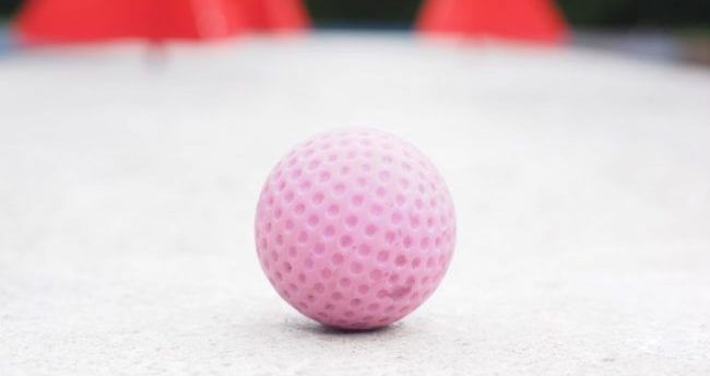 Pink ball is a top charity golf game.
