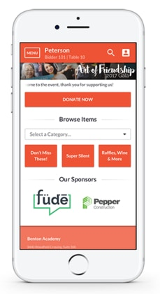Encourage your golfers to donate and bid as they play in your charity golf tournament with OneCause mobile bidding tools!