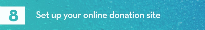 8. Set up your online donation site