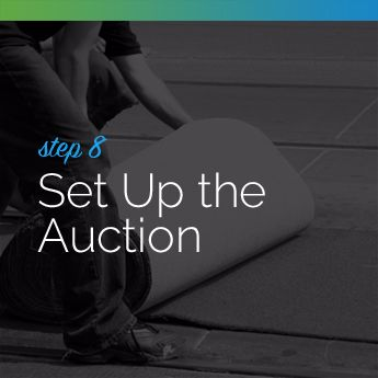 Step 8 to Planning an In-Person Charity Auction: Set Up the Auction