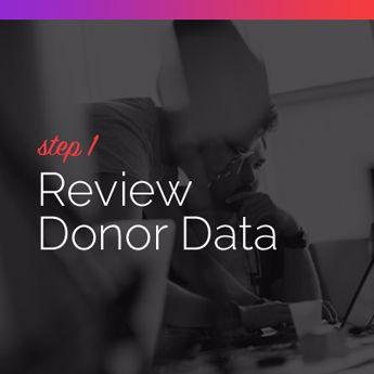 Step 1 to Procuring Auction Items: Review Donor Data