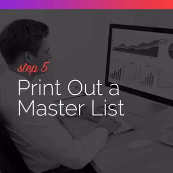 Step 5 to Procuring Auction Items: Print Out a Master List