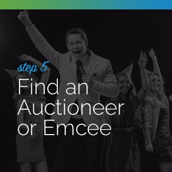 Step 5 to Planning an In-Person Charity Auction: Find an Auctioneer or Emcee