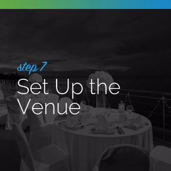 Set up the venue for your silent auction event.