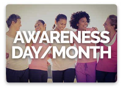 OneCause Giving Centers are great for awareness days / months online giving campaigns