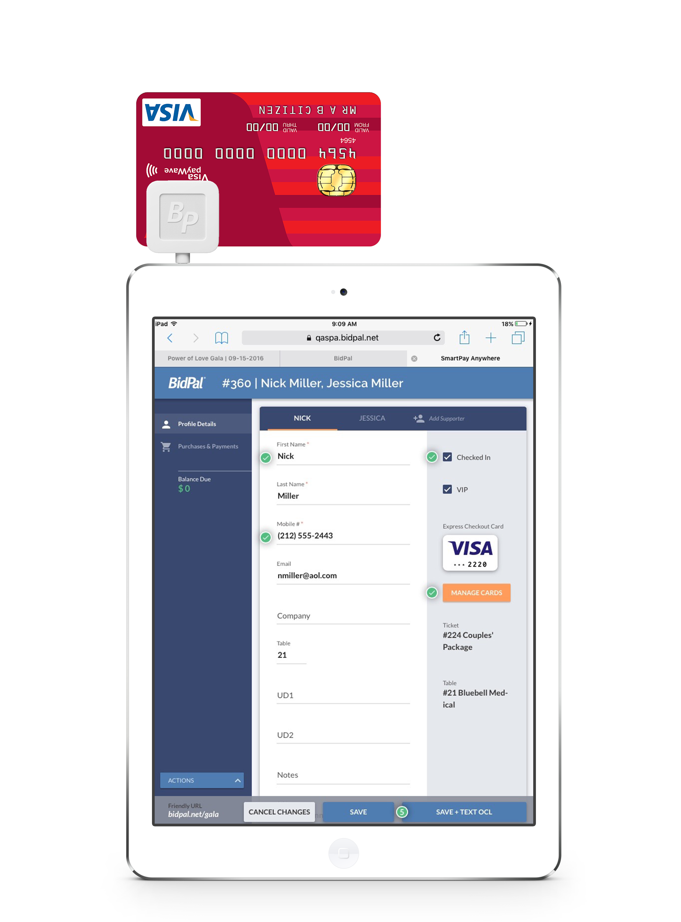 Event & Auction checkout payments are easy with OneCause SmartPay software