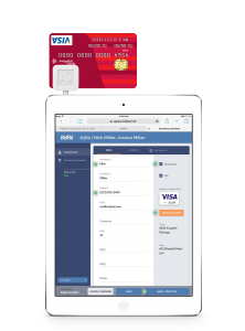 SmartPay Anywhere Registration and checkout software on iPad