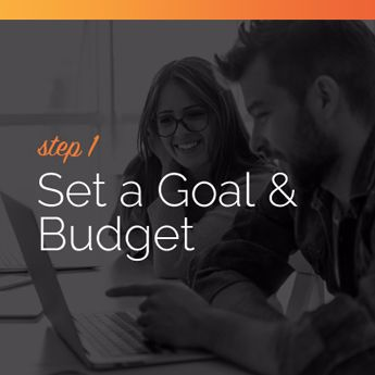 Set a goal and a budget for your online charity auction event.