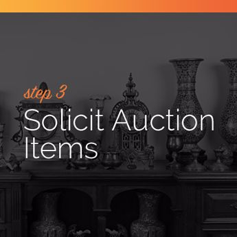 Solicit auction items for your online charity auction event.