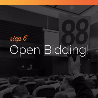 Open the bidding for your online charity auction event.