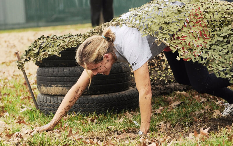 An obstacle course is a great way to challenge your supporters and raise money.