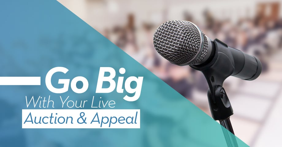 Go Big with your Live Auction & Appeal