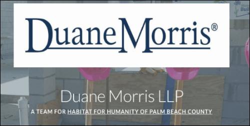 The Duane Morris LLP team raised money for their cause on Razoo.