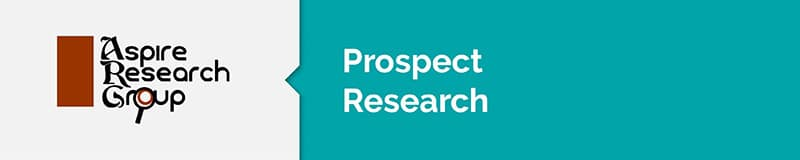 Aspire Research Group is a nonprofit consulting firm that specializes in prospect research.