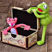 A toy treasure chest will be irresistible for the young ones.