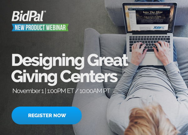 Webinar: Designing Great Giving Centers. Click to Register.