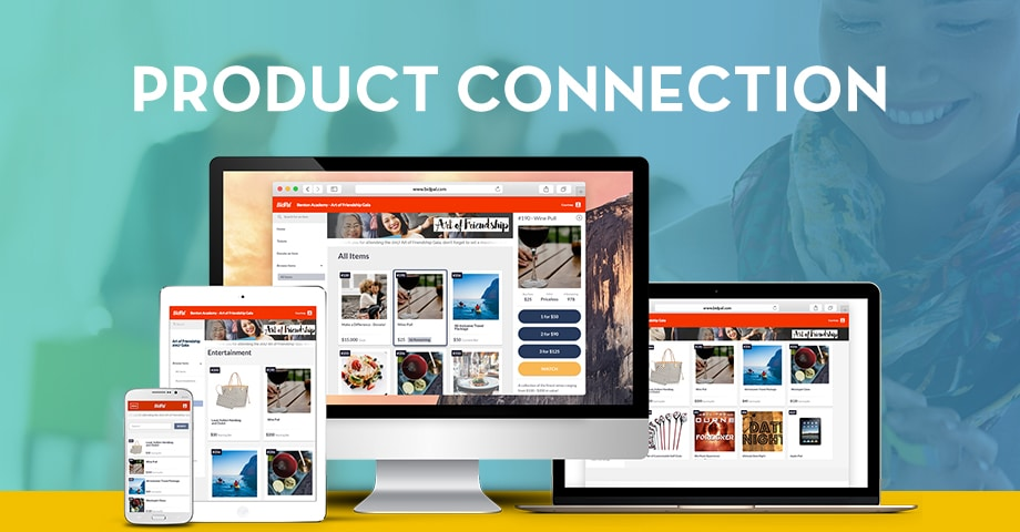 OneCause Product Connection mobile devices