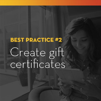 Create gift certificates to represent less tangible items in your school auction.