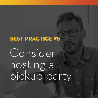 Consider hosting a pickup party for the winners of your school auction items.