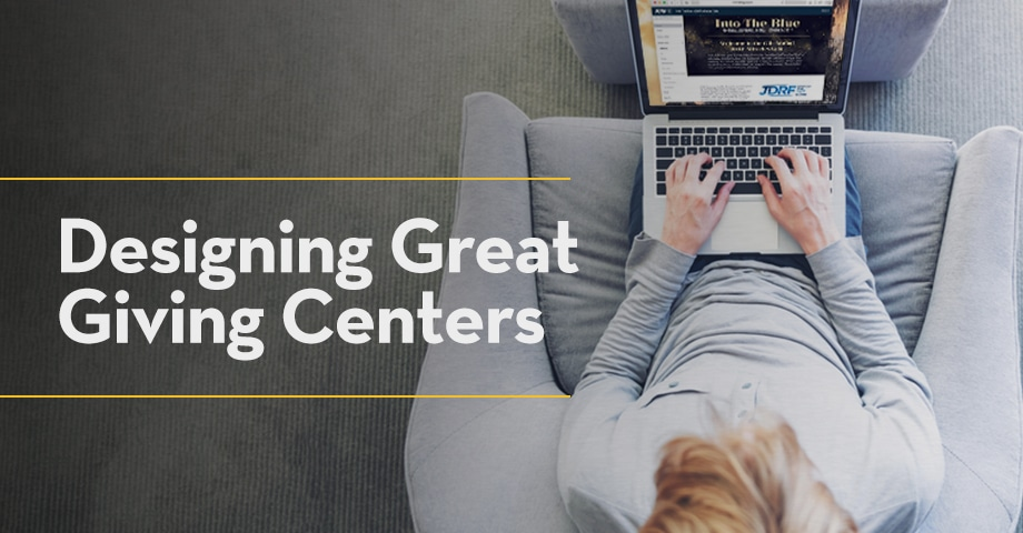 Designing Great Giving Centers