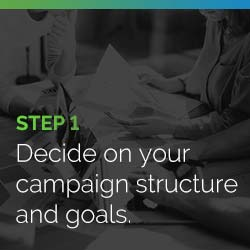 Decide on your peer-to-peer fundraising campaign structure and goals.