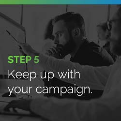 Keep up with your peer-to-peer fundraising campaign.
