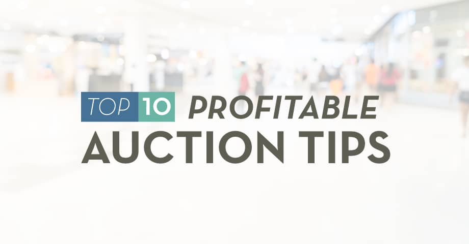 Infographic: Top 10 Profitable Auction Tips