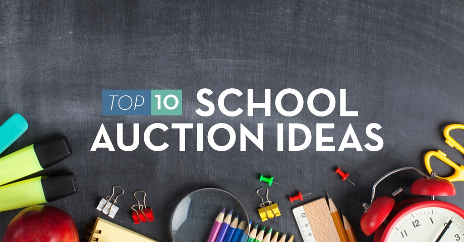 Top 10 School Auction Ideas Infographic