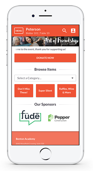 The comprehensive mobile app makes online silent auction software from OneCause a top pick!