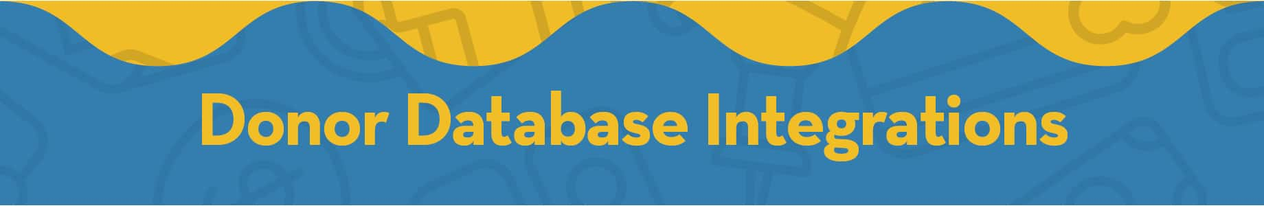 Donor Database Integrations