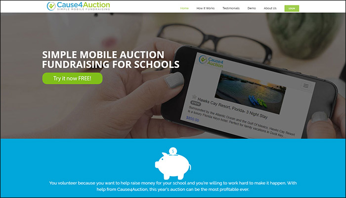 Find out more about Cause4Auction's mobile bidding software.