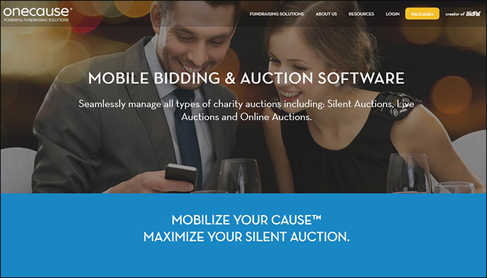 Find out more about OneCause's mobile bidding software.
