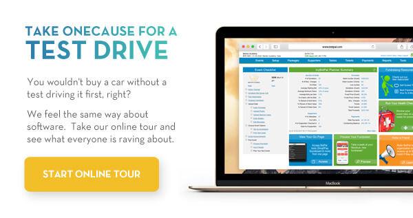 Test drive charity auction software from OneCause!