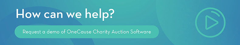 Request a demo of charity auction software by OneCause!