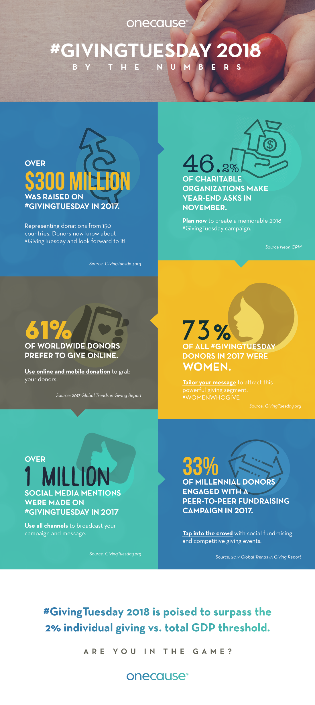Giving Tuesday by the number Infographic
