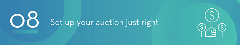 Physically set up your charity auction in a smart way.