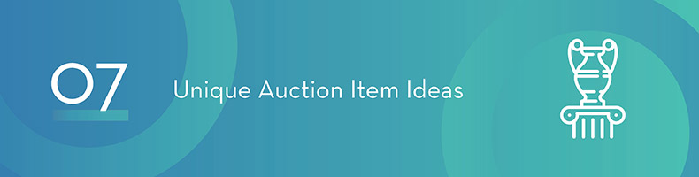 These unique auction item ideas are sure to catch your donors' attention.