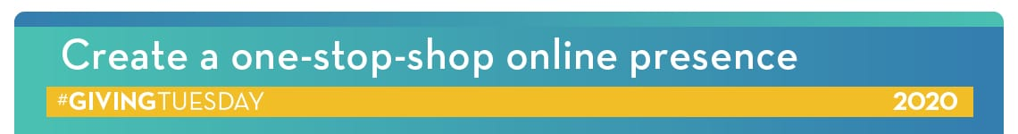 Create a one stop shop online presence