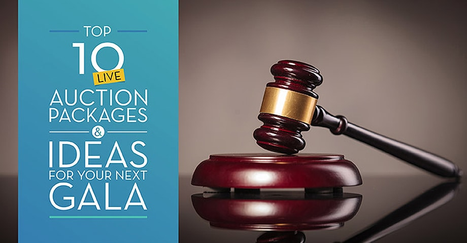 Top 10 Live Auction Packages & Ideas for your Next Gala