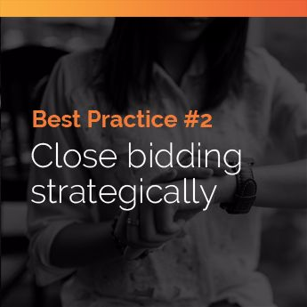 Closing bidding strategically is a silent auction best practice for a few reasons.