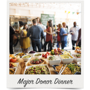 Your silent auction might fit well into a thank you dinner for major donors.