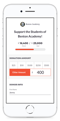 Set your custom donation amounts on Text-to-Give