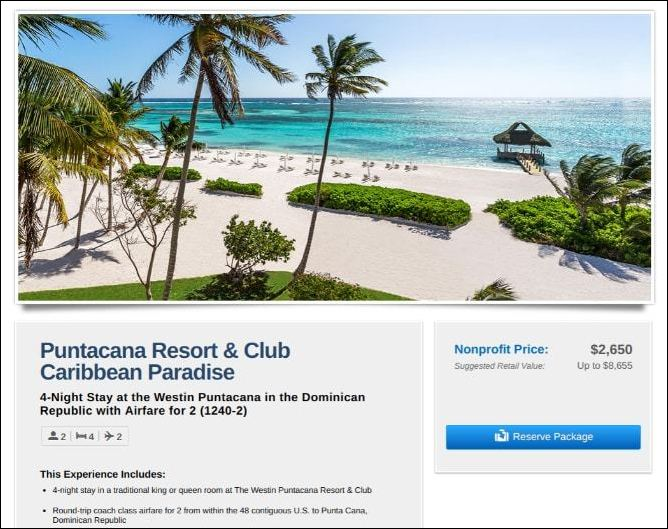 Offer your attendees a trip to Puntacana to bid on as a silent auction donation