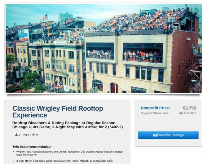 Auction off this once in a lifetime Wrigley Field experience as a silent auction donation.