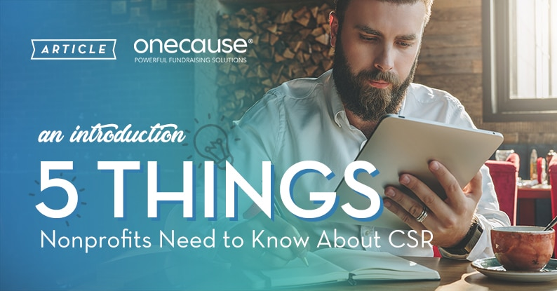 ARTICLE an introduction 5 Things Nonprofits Need to Know about CSR