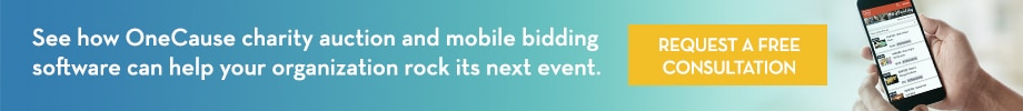 See hoe OneCause charity auction and mobile bidding software can help your organization rock its next event.  Click to request a consultation.