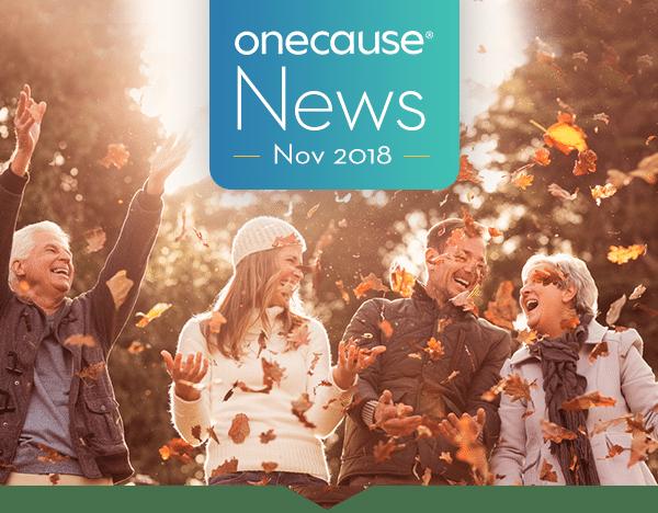 OneCause November 2018 Newsletter