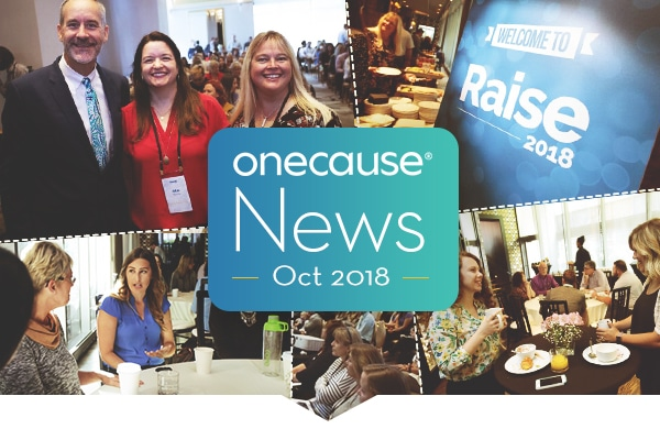 OneCause News Oct 2018 banner